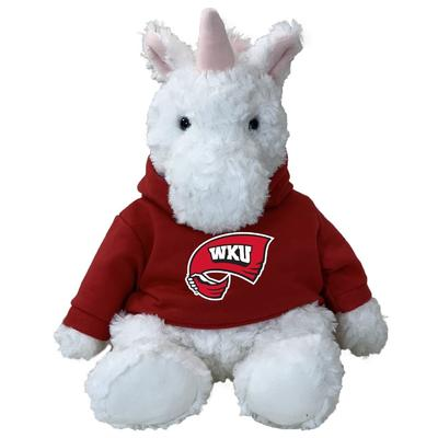 Western Kentucky 13 Inch Cuddle Buddie Plush Unicorn