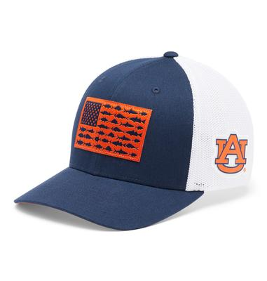 Auburn Columbia PFG Fish Flag Mesh Hat