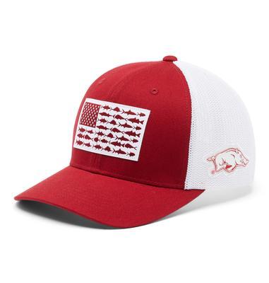 Arkansas Columbia PFG Fish Flag Mesh Hat