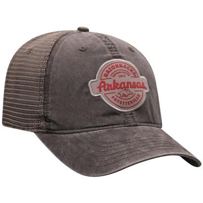 Arkansas Top of the World Ominous Patch Trucker Hat