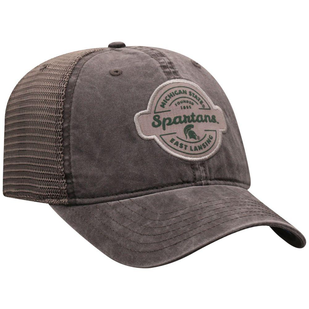 Michigan State Top Of The World Ominous Patch Trucker Hat