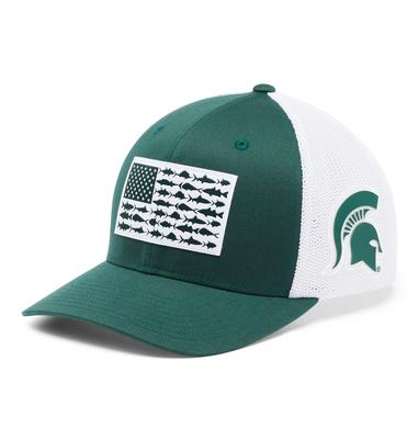 Michigan State Columbia PFG Fish Flag Mesh Hat