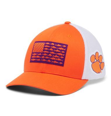 Clemson Columbia PFG Fish Flag Mesh Hat