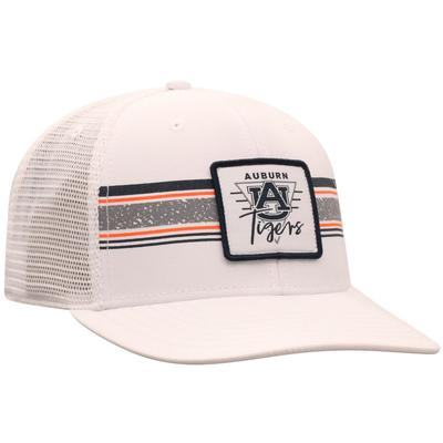 Auburn Top of the World Retro Striped Patch Mesh Hat