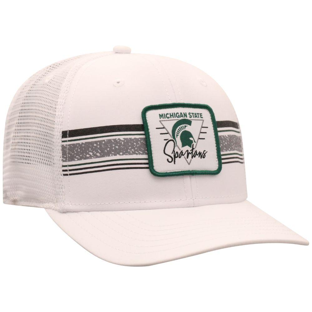 Michigan State Top Of The World Retro Striped Patch Mesh Hat