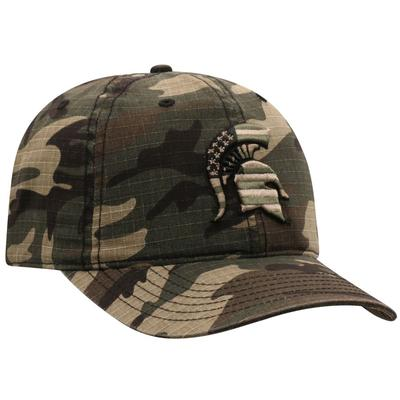 Michigan State Top of the World Woodland Flag Logo Hat