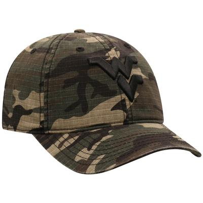 West Virginia Top of the World Woodland Logo Hat