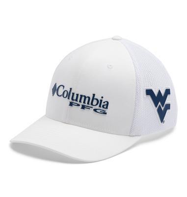 West Virginia Columbia PFG Mesh Hat