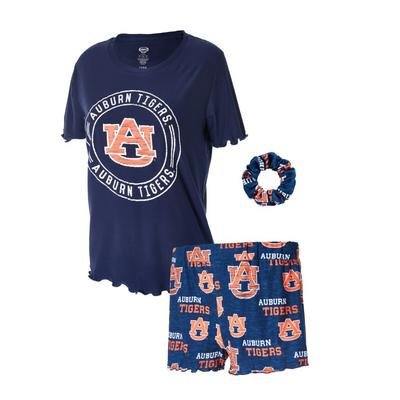 Auburn Women's Zest Top, Shorts, and Scrunchie Set