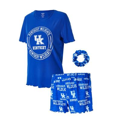 Kentucky Women's Zest Top, Shorts, and Scrunchie Set