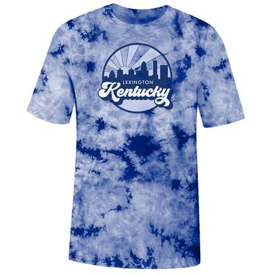 Kentucky Women's Tie Dye Crystal Wash Short Sleeve Tee