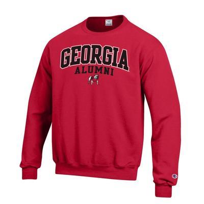 Georgia Alumni Arch Logo Crew Fleece Pullover