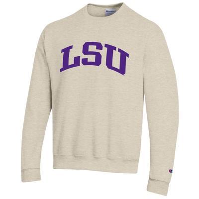 LSU Arch Logo Crew Fleece Pullover