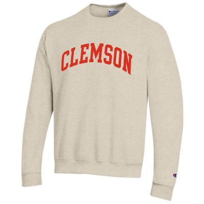 Clemson Arch Logo Crew Fleece Pullover