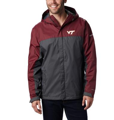 Virginia Tech Columbia Men's Glennaker Storm Jacket - Tall Sizing