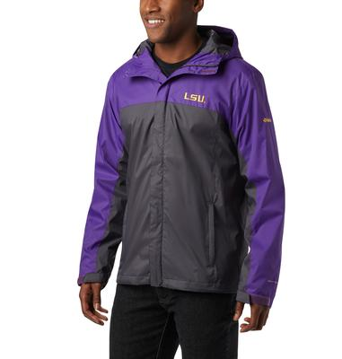 LSU Columbia Men's Glennaker Storm Jacket - Tall Sizing