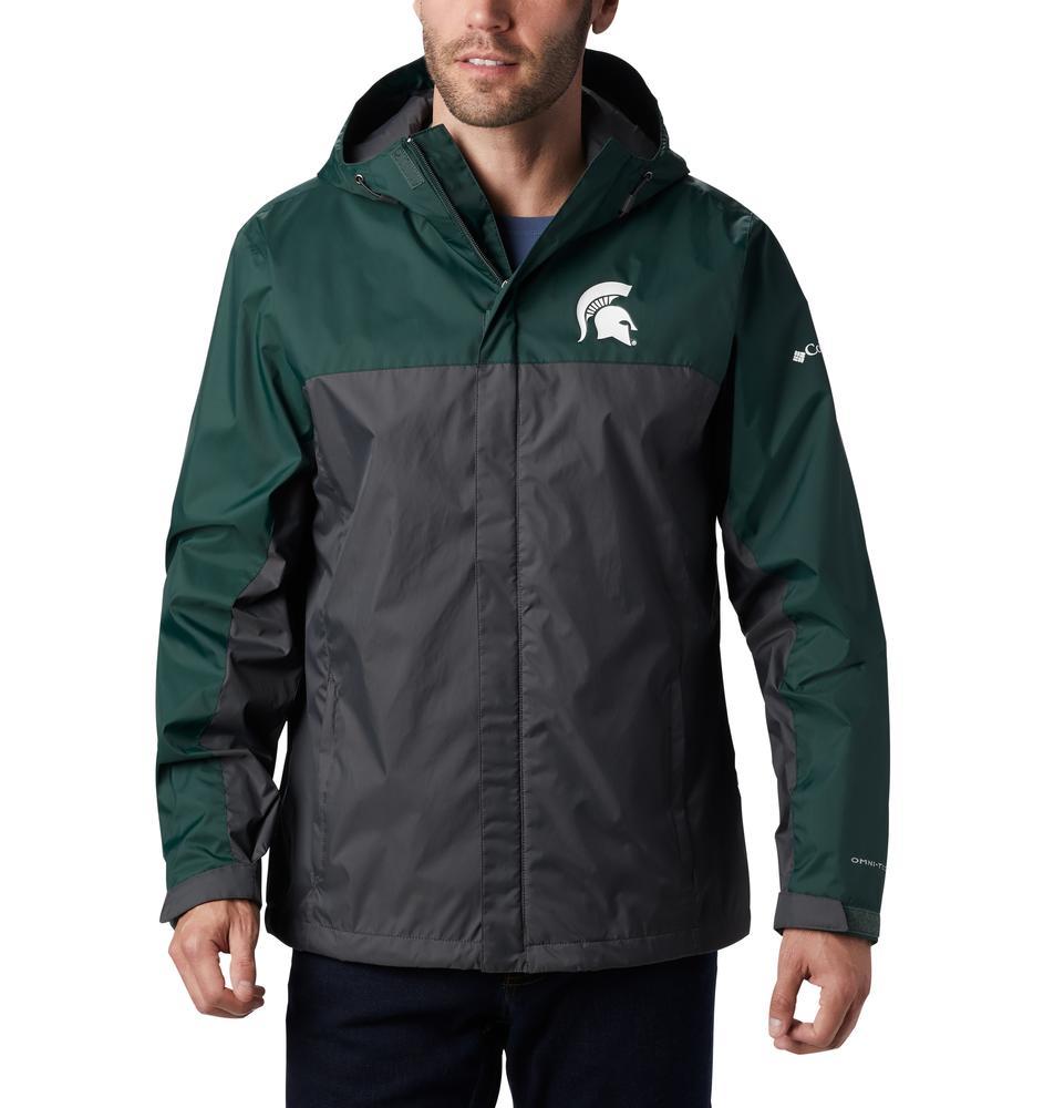 Michigan State Columbia Men's Glennaker Storm Jacket - Tall Sizing