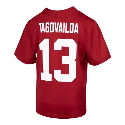 Alabama Nike Youth #13 Tua Tagovailoa Football Jersey