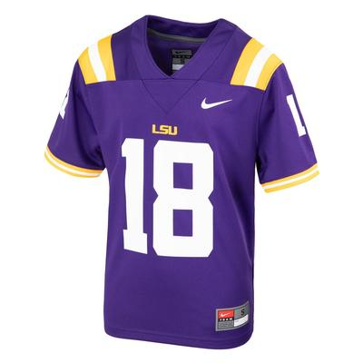 LSU Nike Youth #18 Replica Football Jersey