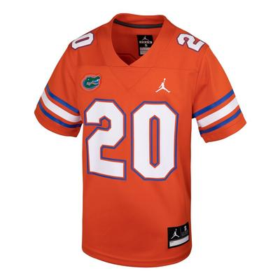 Florida Jordan Brand Orange Youth Replica #20 Football Jersey