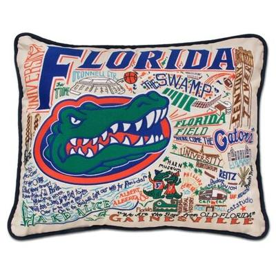 Florida Hand Embroidered Pillow