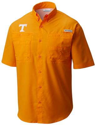 Tennessee Men's Columbia Tamiami Short Sleeve Shirt - Big Sizing SOLARIZE