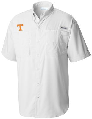 Tennessee Men's Columbia Tamiami Short Sleeve Shirt - Big Sizing WHITE