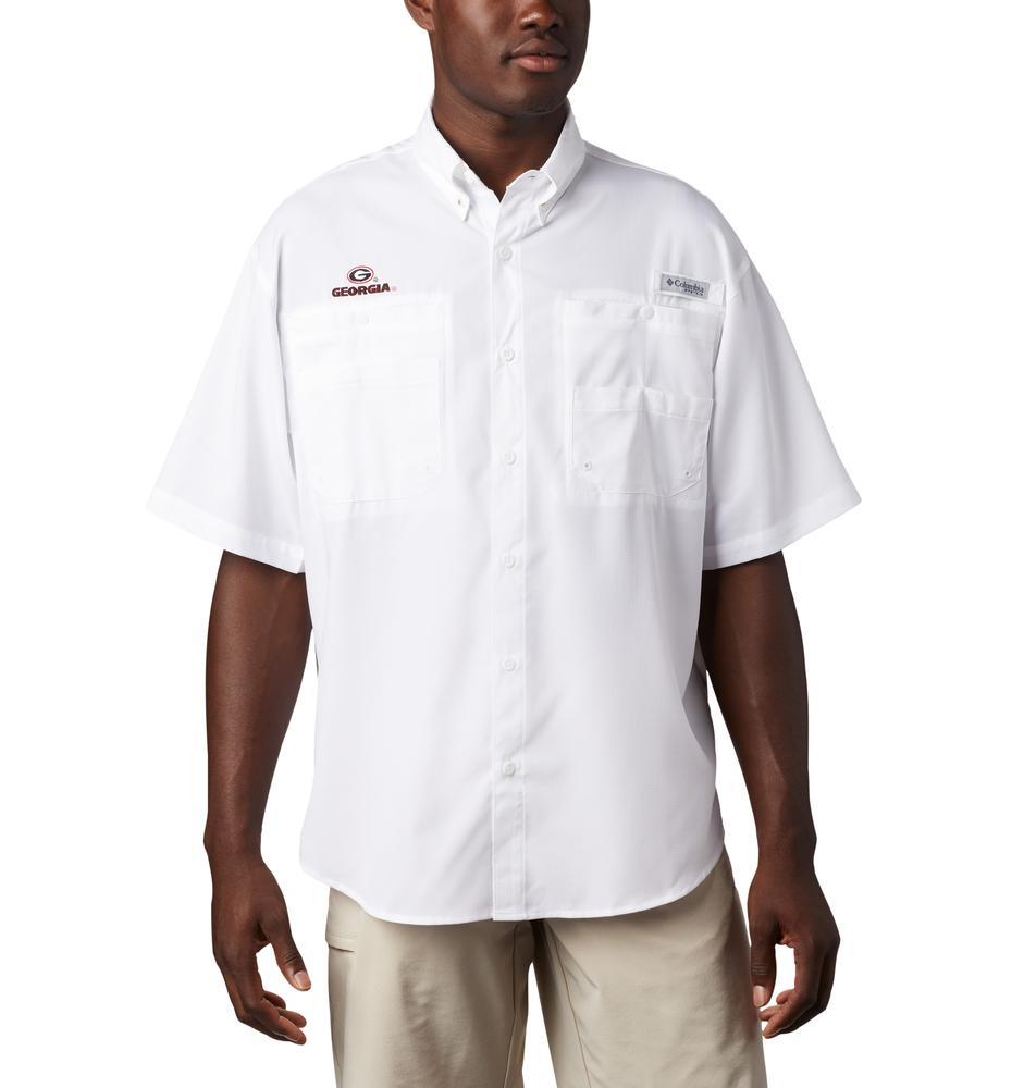 Georgia Men's Columbia Tamiami Short Sleeve Shirt - Tall Sizing