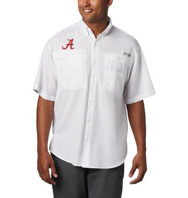 Alabama Men's Columbia Tamiami Short Sleeve Shirt - Tall Sizing