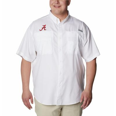 Alabama Men's Columbia Tamiami Short Sleeve Shirt - Big Sizing