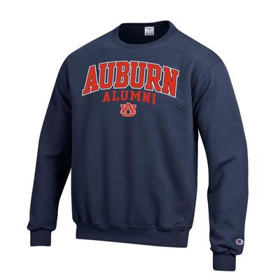 Auburn Champion Fleece Screen Print Alumni Crew