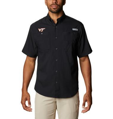 Virginia Tech Men's Columbia Tamiami Short Sleeve Shirt - Tall Sizing