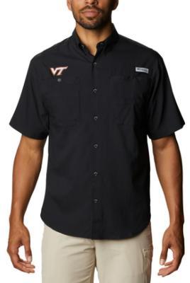 Virginia Tech Men's Columbia Tamiami Short Sleeve Shirt - Big Sizing