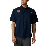 Auburn Men's Columbia Tamiami Short Sleeve Shirt - Tall Sizing