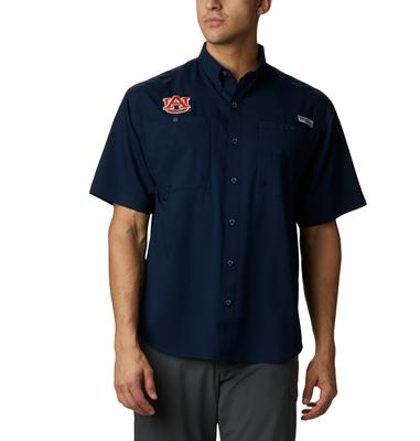 Auburn Men's Columbia Tamiami Short Sleeve Shirt - Tall Sizing