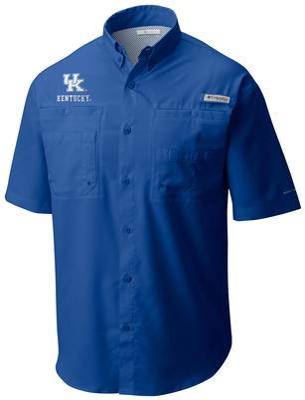 Kentucky Men's Columbia Tamiami Short Sleeve Shirt - Big Sizing