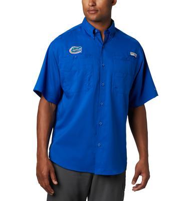 Florida Men's Columbia Tamiami Short Sleeve Shirt - Big Sizing AZUL