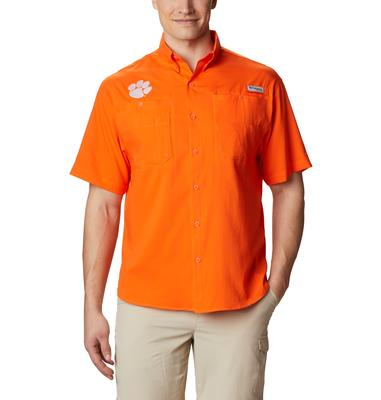 Clemson Men's Columbia Tamiami Short Sleeve Shirt - Tall Sizing
