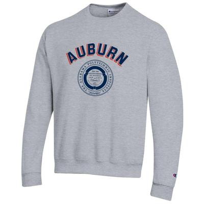 Auburn Champion Fleece Screen Print API Seal Crew