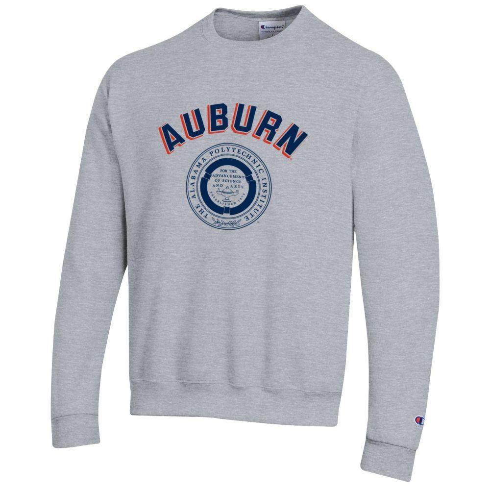 Auburn Champion Fleece Screen Print Api Seal Crew