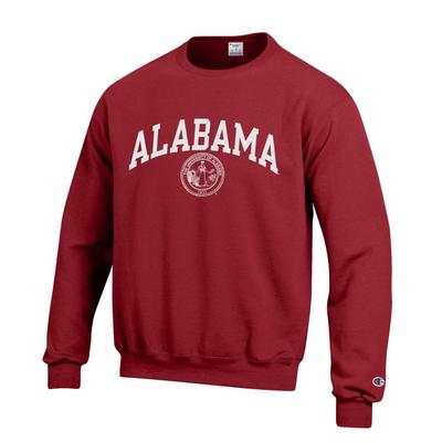 Alabama Champion Fleece Screen Print Seal Crew