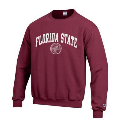 Florida State Champion Fleece Screen Print Seal Crew