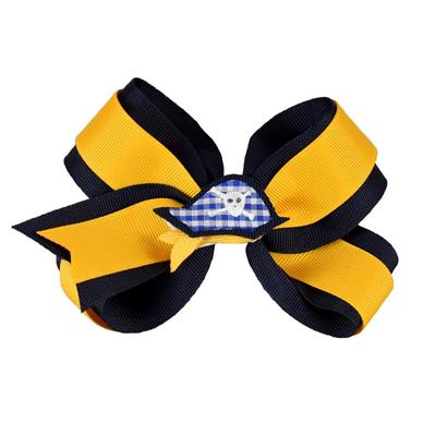 Navy & Gold Knotted Bow