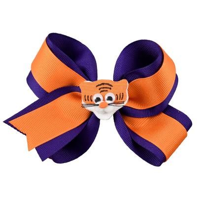 Orange & Purple Knotted Bow