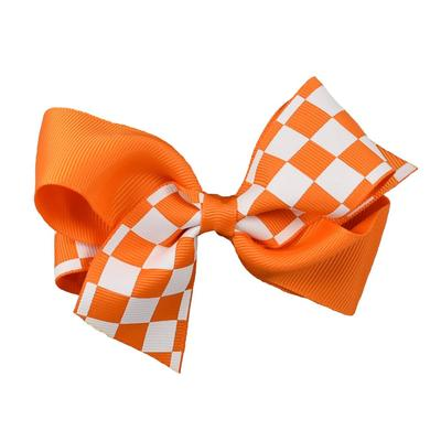 Orange & White Checkerboard Classic Fluff