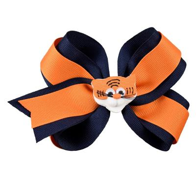 Navy & Orange Knotted Bow