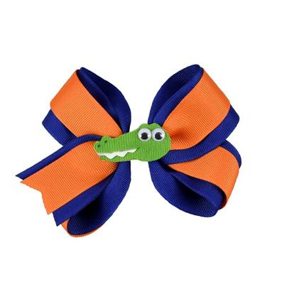 Blue & Orange Knotted Bow