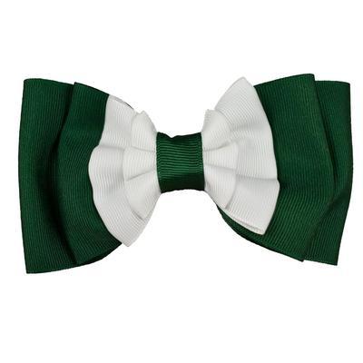 Green & White Ruffled Pinch