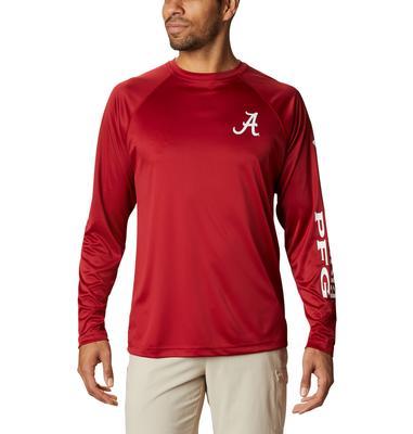 Alabama Columbia Men's Terminal Tackle Long Sleeve Shirt - Tall Sizing