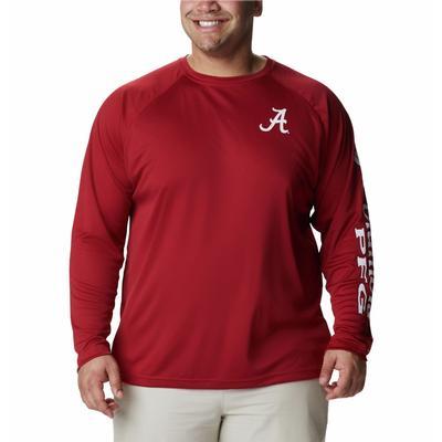Alabama Columbia Men's Terminal Tackle Long Sleeve Shirt - Big Sizing